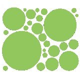 Light Green 25 Peel and Stick Wall Stickers