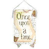Once Upon A Time Wall Hanging by Drooz Studio