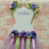 Lavender Bloom Hair Bow Holder