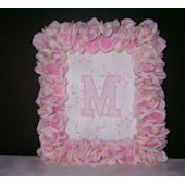 Gilbert Designs Silk Rose Letter Frame