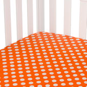 Glenna Jean Calliope Orange Dot Crib Sheet