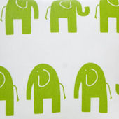 Ellie And Stretch Green Elephant Fabric