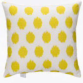 Glenna Jean Lil Hoot Yellow Dot Pillow