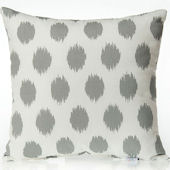 Glenna Jean Swizzle Grey Dot Pillow