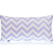 Glenna Jean Swizzle ZigZag Purple Rectangle Pillow