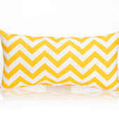 Glenna Jean Swizzle ZigZag Yellow Rectangle Pillow