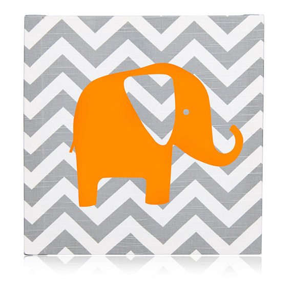 Glenna Jean Sweet Potato Rhythm Chevron Wall Art