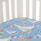 Glenna Jean Set Sail Crib Sheet
