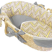 Hoohobbers Chevron Yellow Moses Basket