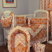 Burst Tangerine 3pc Crib Bedding Set