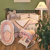 Classic Pink 3pc Crib Bedding Set