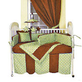 Dots Green 3pc Crib Bedding Set