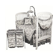 Etoile Black 3pc Crib Bedding Set