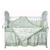Etoile Green 3pc Crib Bedding Set