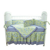 Etoile Lime 3pc Crib Bedding Set