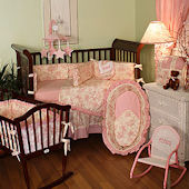 Etoile Pink 3pc Crib Bedding Set