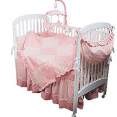 Sherbert Pink 3pc Crib Bedding Set