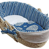 Hoohobbers Medallion Blue Moses Basket