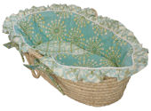 Burst Seagrass Moses Basket
