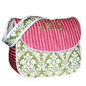 Hoohobbers Versailles Green Messenger Diaper Bag
