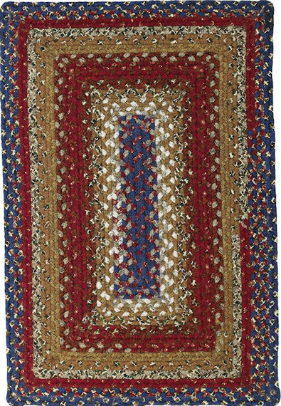 Home Spice Log Cabin Step Cotton Braided Rug