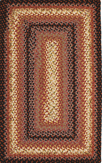 Home Spice Plumberry Cotton Braided Rug