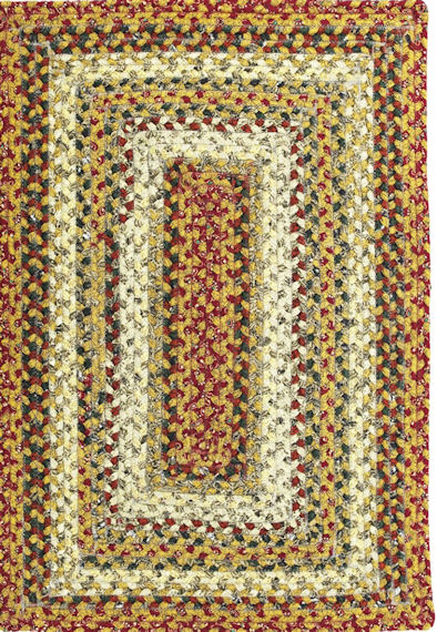 Home Spice Pumpkin Pie Cotton Braided Rug