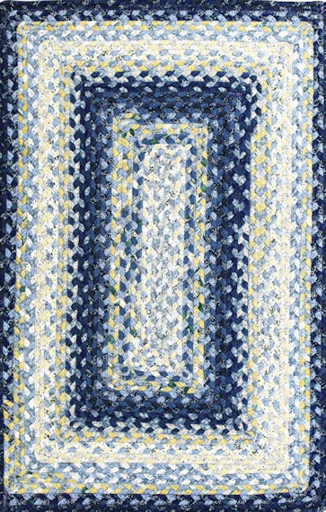 Home Spice Wedgewood Cotton Braided Rug