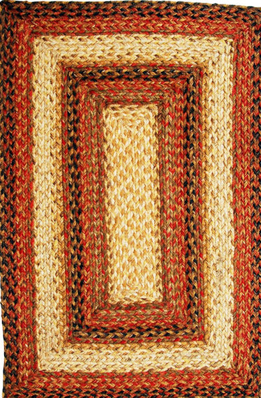 Home Spice Russett Jute Braided Rug