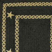 Home Spice Texas Black Jute Braided Rug