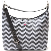 JP Lizzy Glazed Chevron Hobo