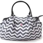 JP Lizzy Allure Chevron Satchel