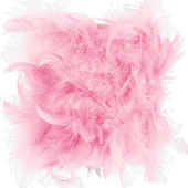 Jubilee Feather Pink Drum Shaped Chandelier Shade