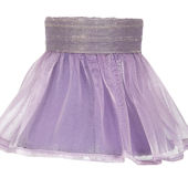 Ruffled Sheer Skirt Lavender Chandelier Shade