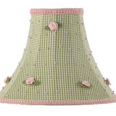 Jubilee Green Check With Pink Rosebud Medium Shade