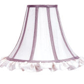 Ruffled Bell Shaped Lavender And White Large Shade