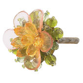 Jubilee Beaded Flower Knob Multiple Colors