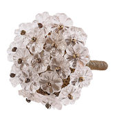 Jubilee Flower Beads Knob Multiple Colors