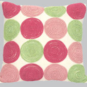 Jubilee Circles Pillow Pink and Green