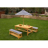 Kid Kraft Outdoor Table Bench Set with Cushions