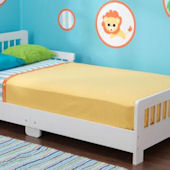 Slatted Toddler Bed White