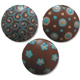 Brown and Blue Mix Drawer Knobs