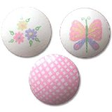 Daisy Gingham and Butterfly Drawer Knobs