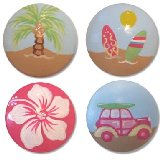 Girls Surf Set Drawer Knobs
