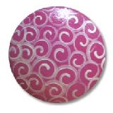 Hot Pink Swirl Drawer Knobs