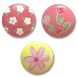 Painted Posies Drawer Knobs