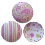 Paisley Stripes and Dots Drawer Knobs