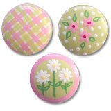Pink and Green Drawer Knobs