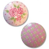 Pink Dotty Rose Drawer Knobs