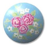 Rose Bouquet Blue Drawer Knobs